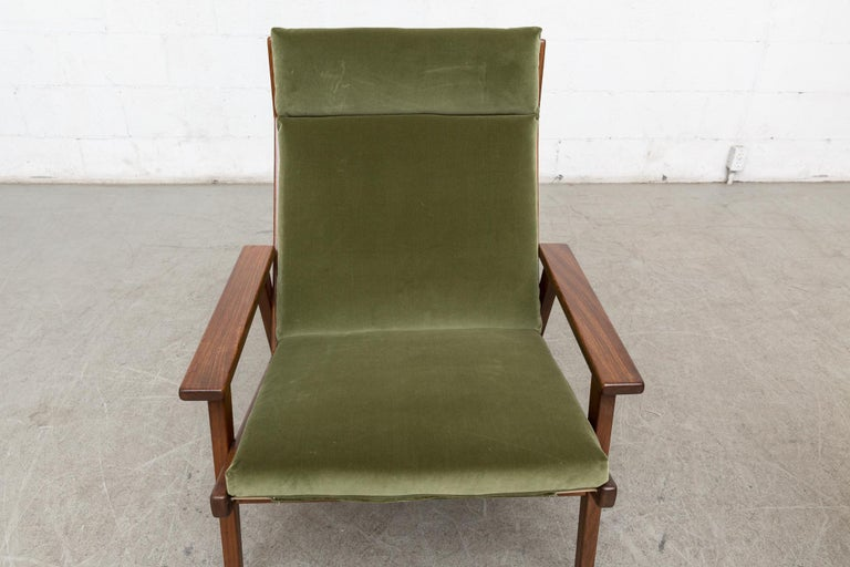 Robert Parry Olive Velvet Lounge Chair For Sale 4