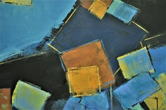 Blue Dimensions, Abstract Painting