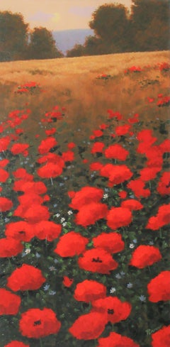 Bright Red Poppies, Original Painting