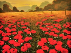 Brilliant Red Poppies, Original Painting