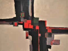 Red Keys, Abstract Painting
