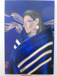 She is like a River, Portrait of a Native American Woman by Robert Peterson