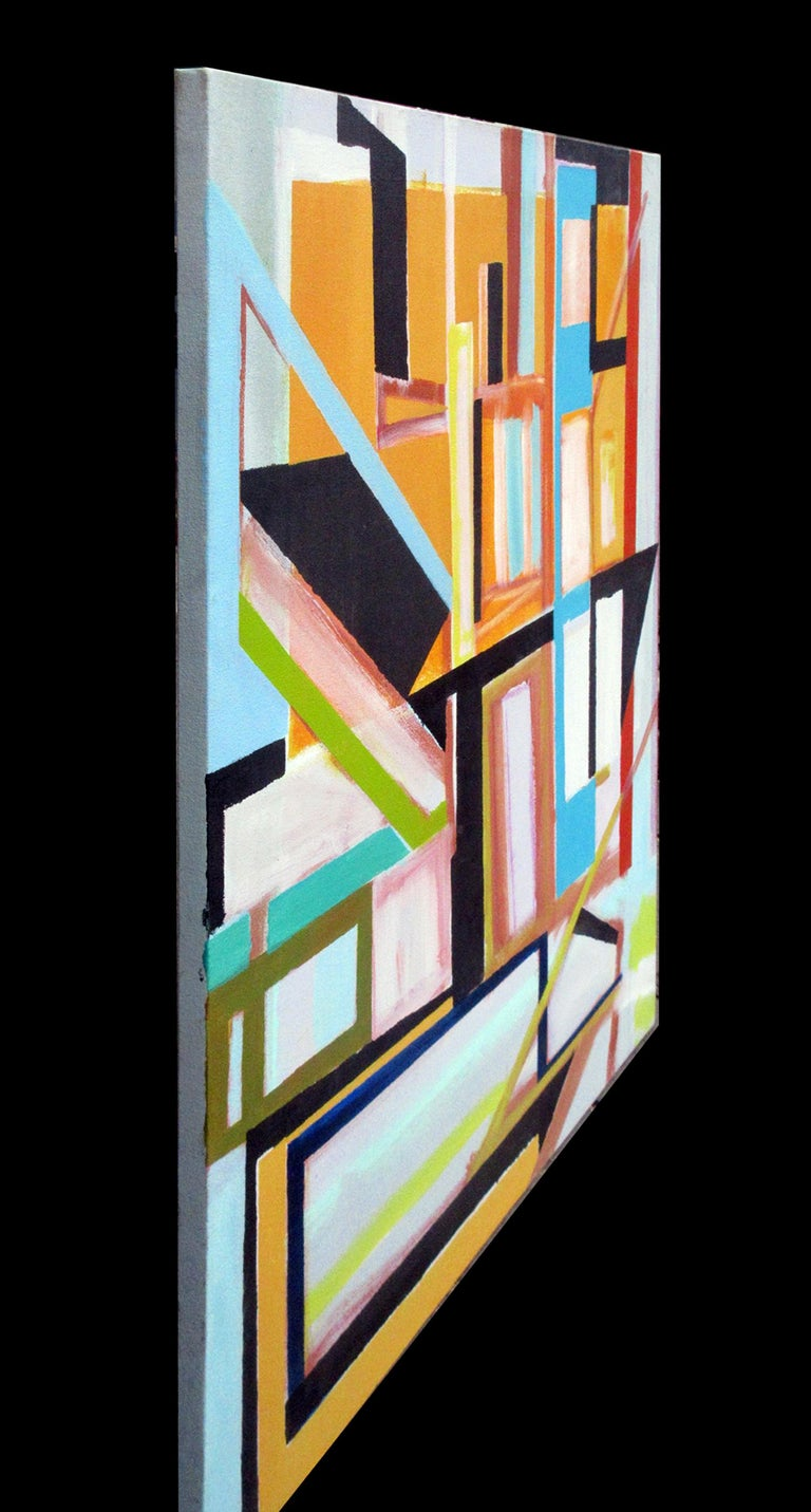 Robert W. Petrick, City Life (Abstract Painting, Construction) For Sale 1