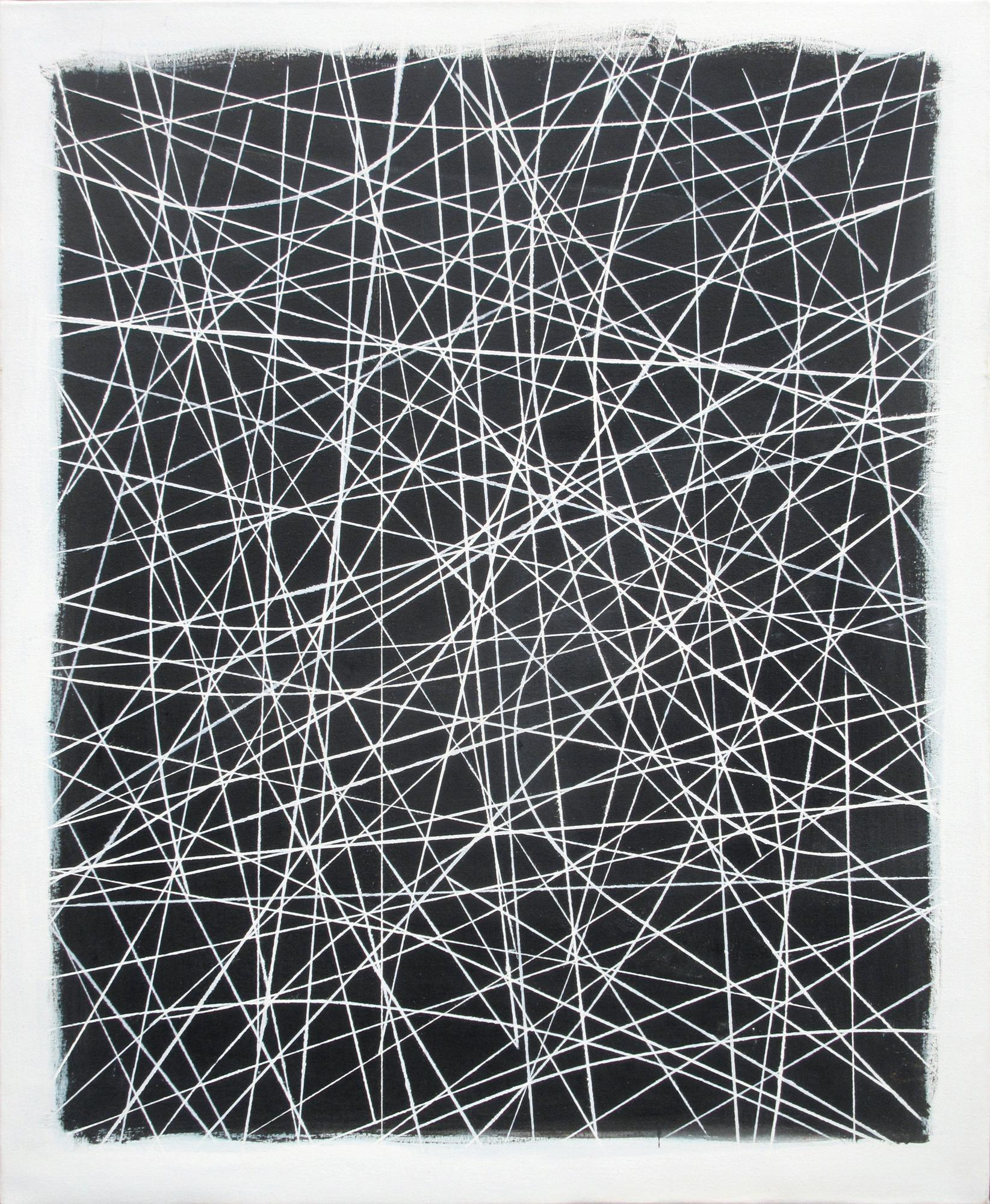 Robert W. Petrick, City Lines (Abstract Painting, Black and White Painting)