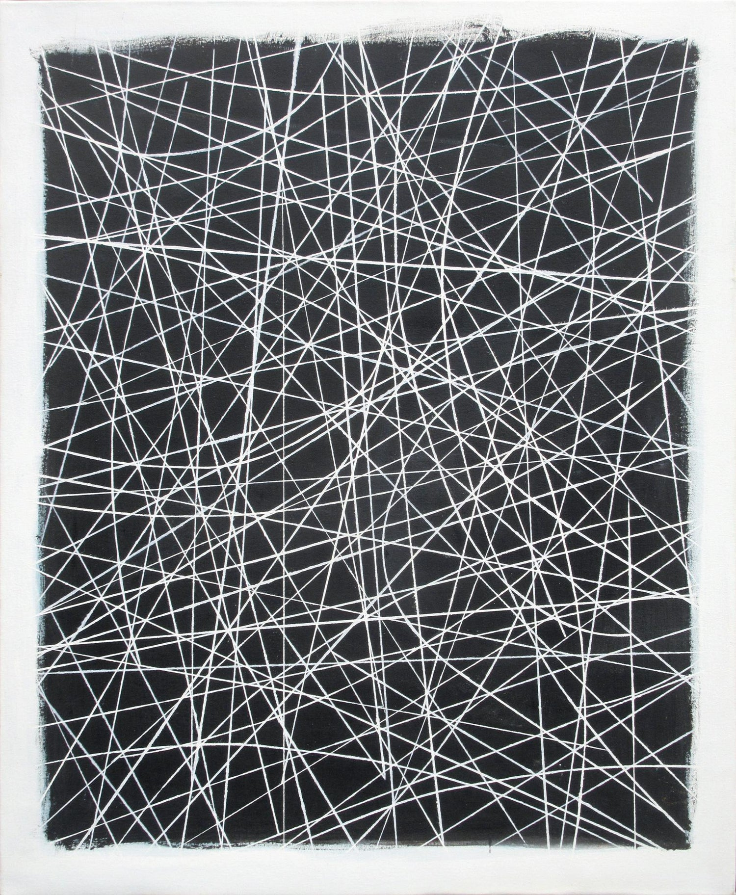 Robert W Petrick City Lines Abstract Painting Black And White Painting