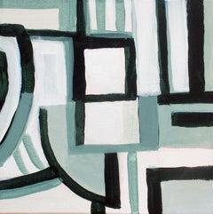 Robert W. Petrick, Green Monochrome #1 (Abstract Painting)