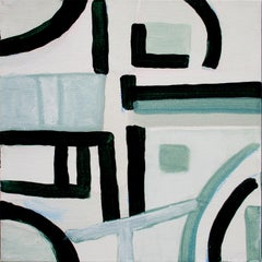 Robert W. Petrick, Green Monochrome #2 (Abstract Painting)