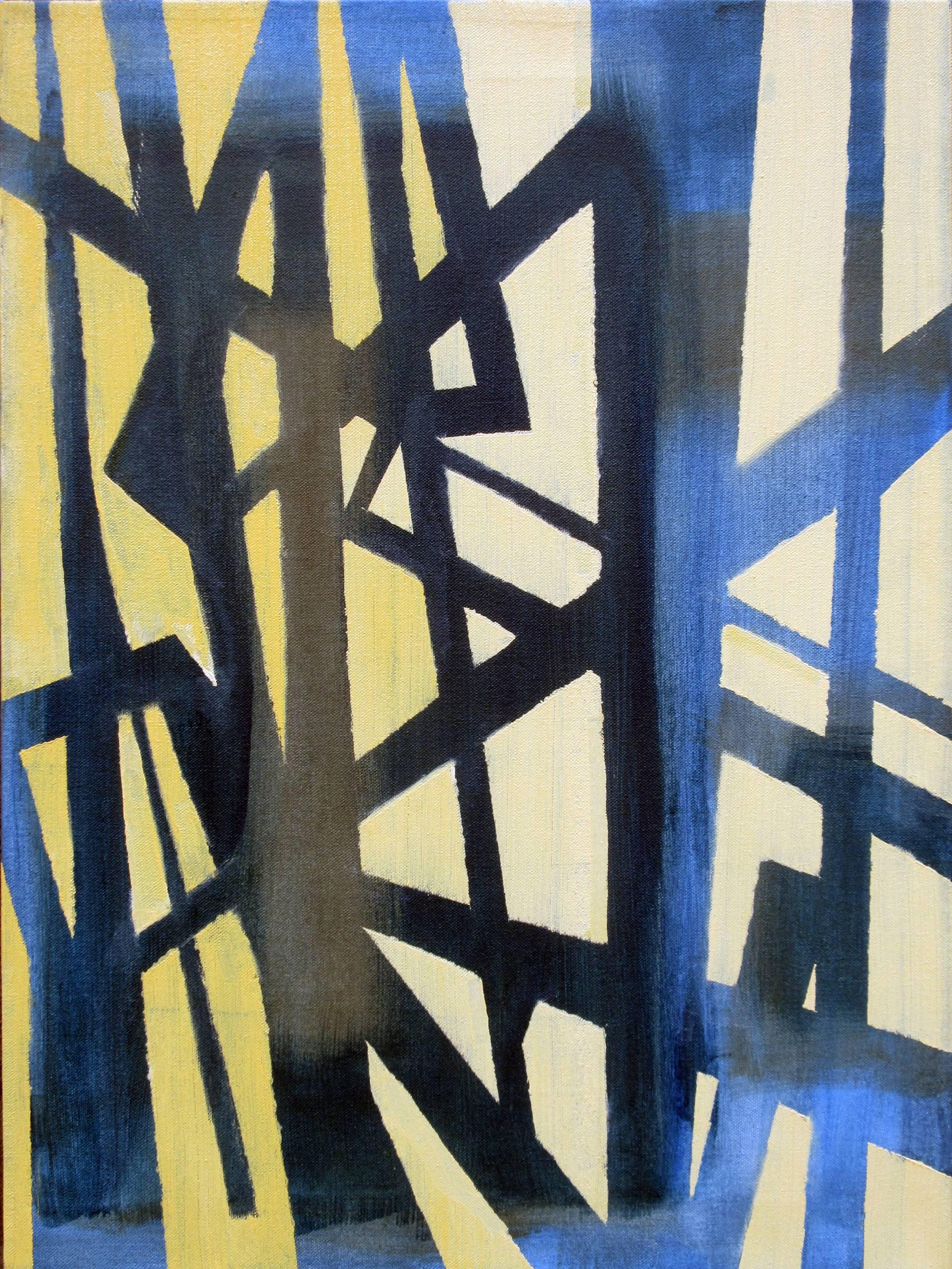 """""""Structure Series #2 V. 1,"""" Colorful Abstract Painting, East Village"""