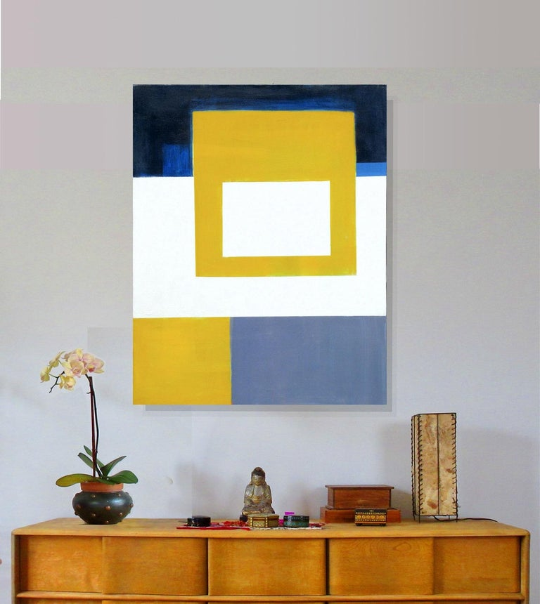 SUNBLOC, #EastVillage #Abstract #Geometric - Painting by Robert Petrick