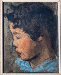 Portrait of Asian Girl Oil Painting by Robert Philipp