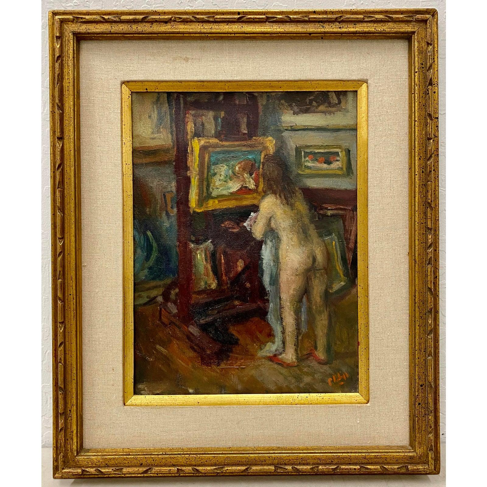 "Robert Phillipp ""Corner of My Studio"" Original Painting c.1968"