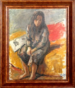 Seated Girl, Oil Painting by Robert Philipp