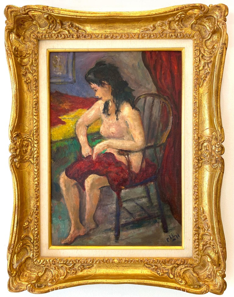 """""""Seated Nude"""" - Painting by Robert Philipp"""