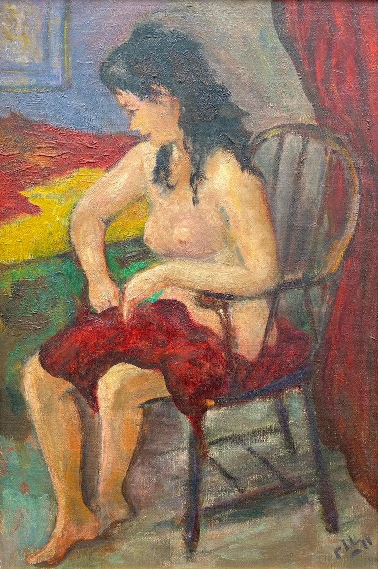 """Seated Nude"" 1"
