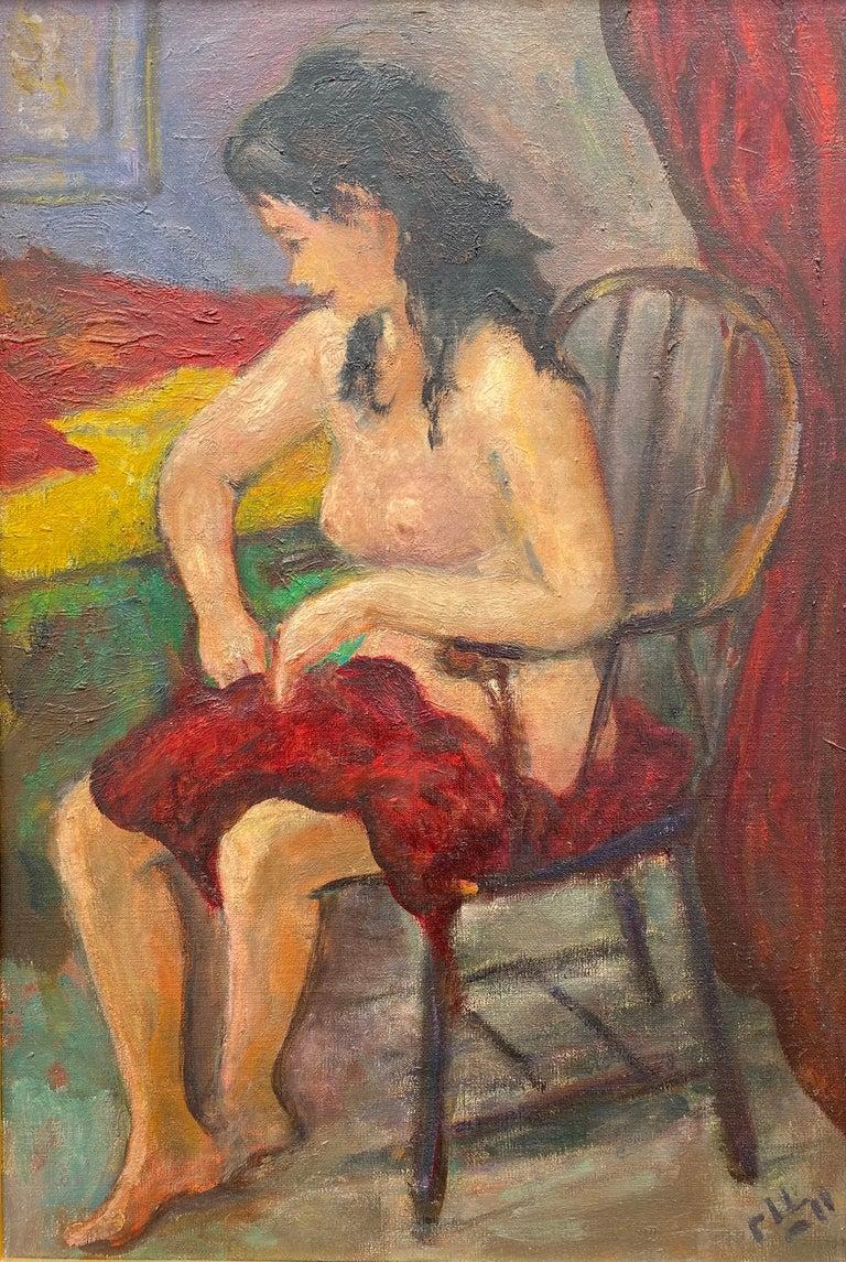 "Robert Philipp Figurative Painting - ""Seated Nude"""