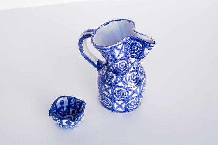 French Robert Picault Ceramic Pitcher For Sale