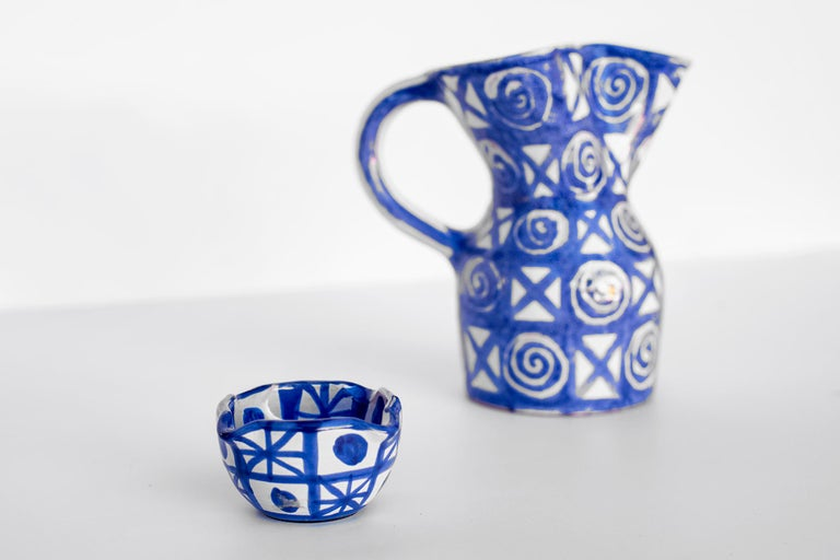 Mid-20th Century Robert Picault Ceramic Pitcher For Sale