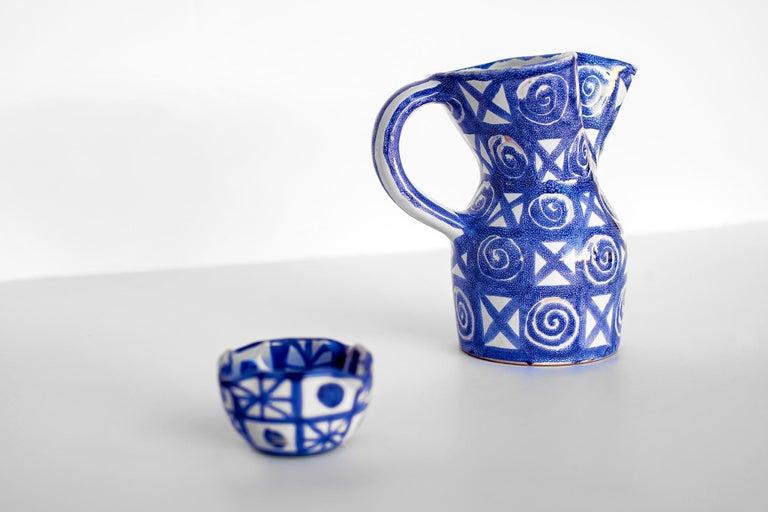 Robert Picault Ceramic Pitcher For Sale 1