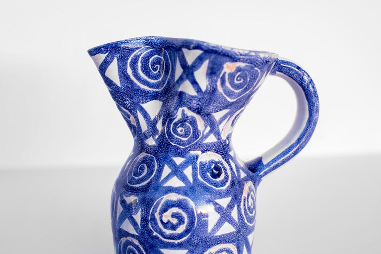 Robert Picault Ceramic Pitcher For Sale 2