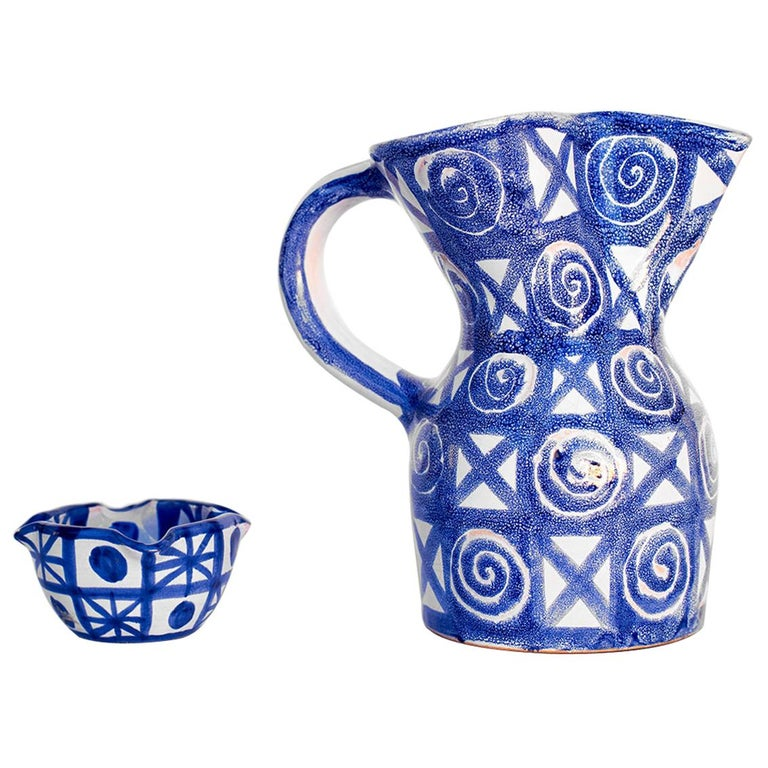 Robert Picault Ceramic Pitcher For Sale