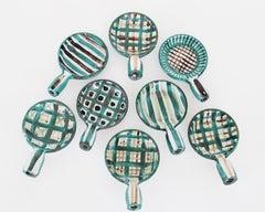 Robert Picault French Ceramic Artist Set of Eight Ceramic Appetizer Dishes