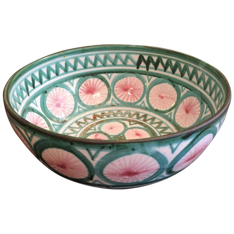 Robert Picault Large Ceramic Bowl by Vallauris, France, ca. 1950s
