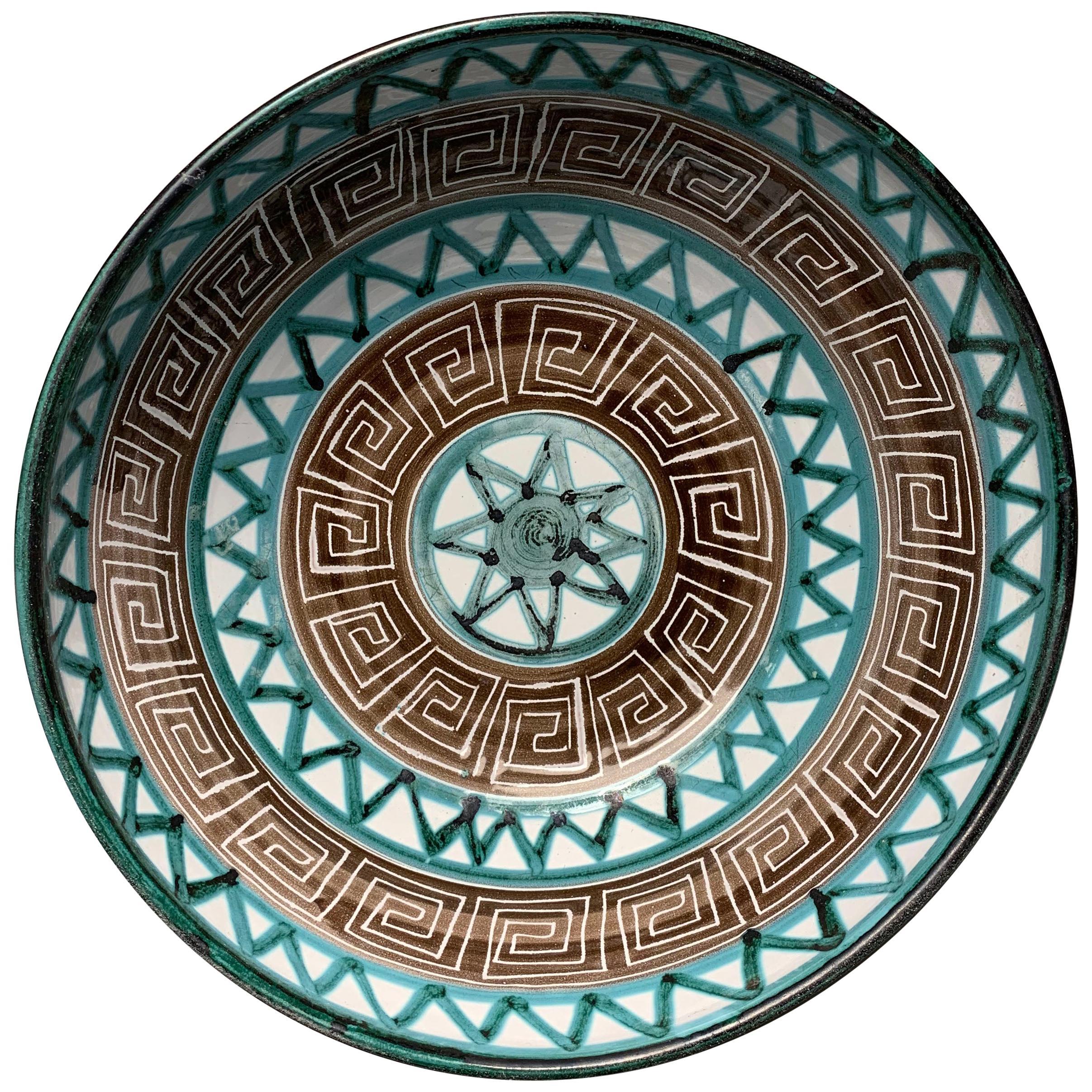 Robert Picault Large Ceramic Centerpiece Bowl
