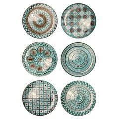 Robert Picault set of Set of 6 Round Dinner Plates