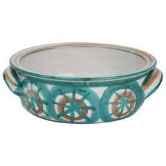 Vintage Robert Picault Vallauris Art Pottery Handled Bowl, 1950s