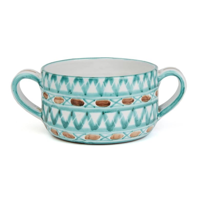 Mid-Century Modern Vintage Robert Picault Vallauris Art Pottery Serving Bowl, 1950s For Sale