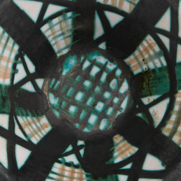 Robert Picault Vallauris Four Teal Art Pottery Dishes, 1950s For Sale 5