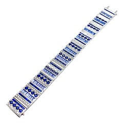 Robert Procop Sapphire and Diamond Masterpiece Collection Platinum Bracelet
