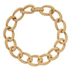 Robert Procop Yellow Sapphire Link Necklace