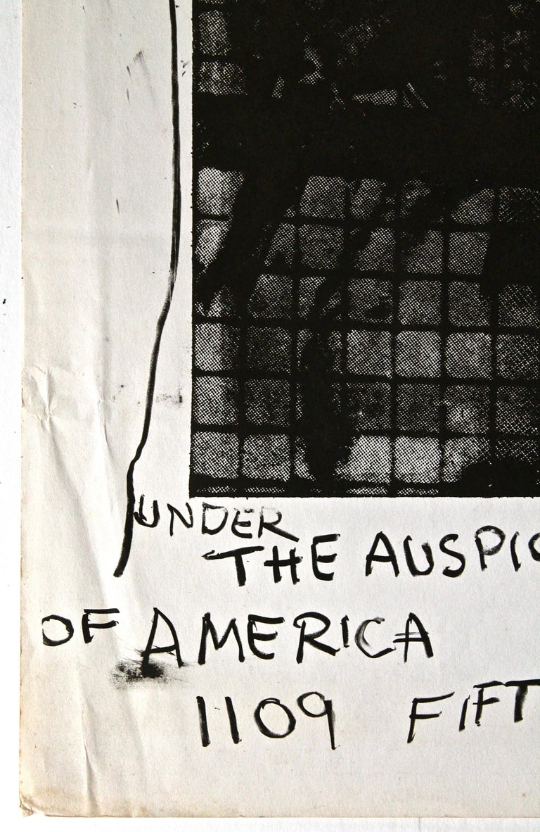 Modern Robert Rauschenberg 1963 Jewish Museum Poster For Sale