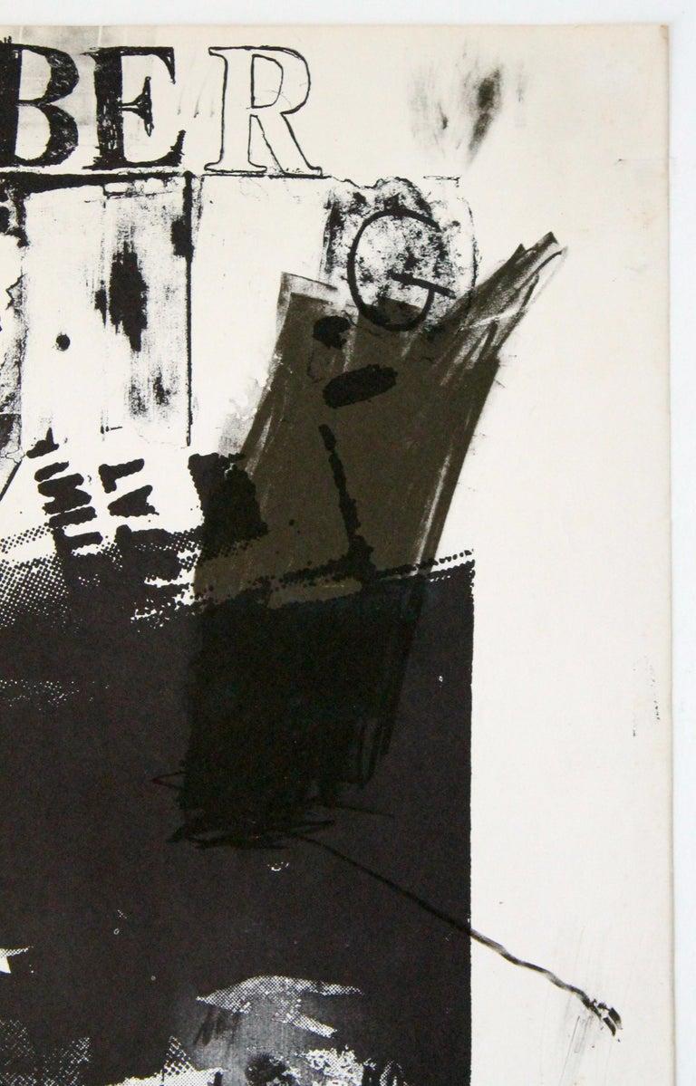 American Robert Rauschenberg 1963 Jewish Museum Poster For Sale