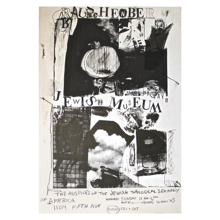 Robert Rauschenberg 1963 Jewish Museum Poster For Sale