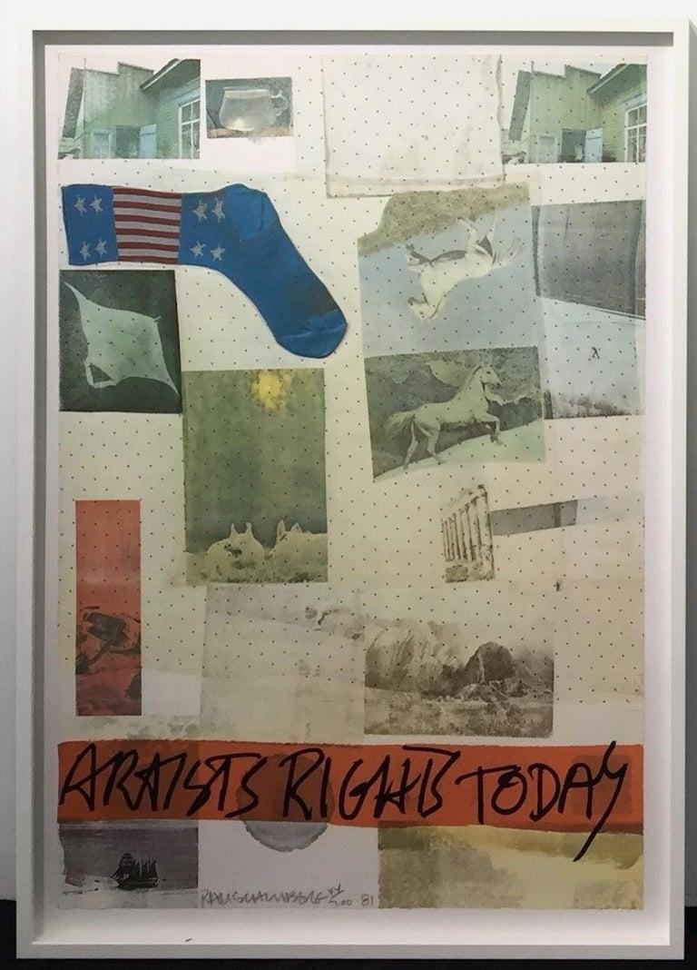 Artist's Rights Today - Print by Robert Rauschenberg