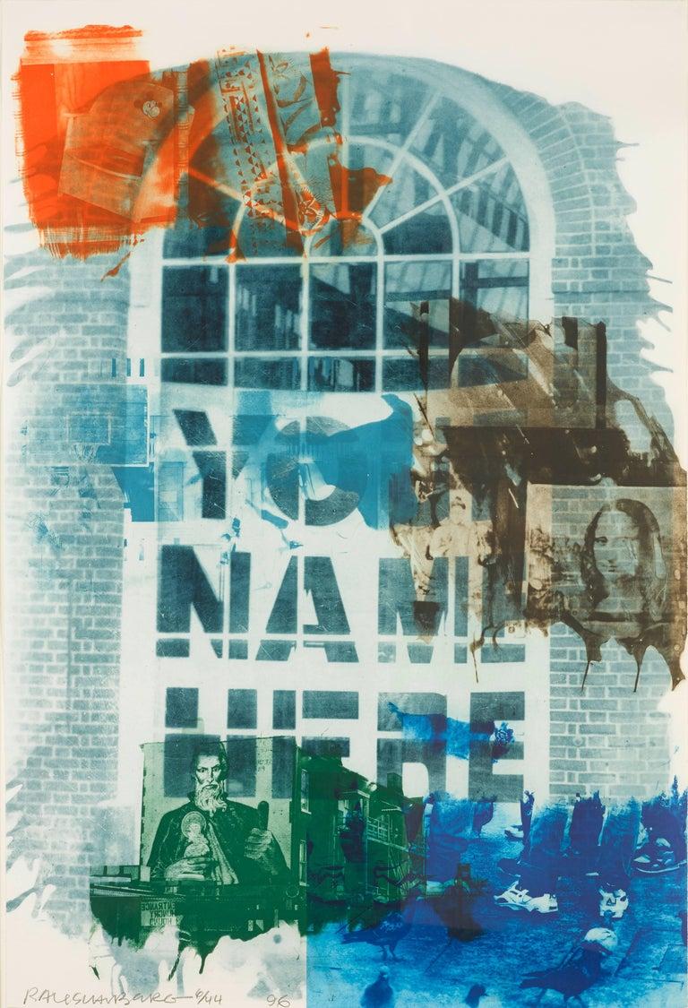 Robert Rauschenberg Figurative Print - Banco
