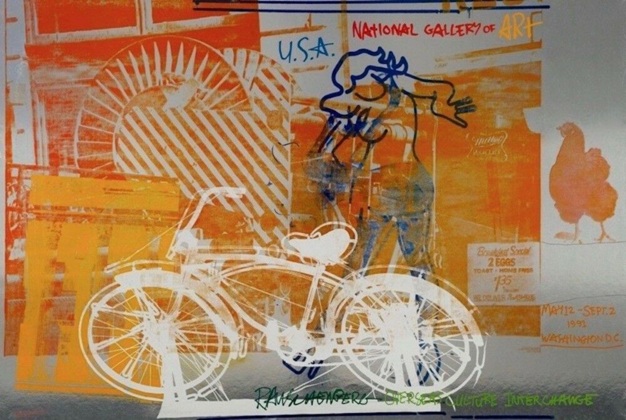 Bicycle, 1991 National Gallery Exhibition Offset Lithograph