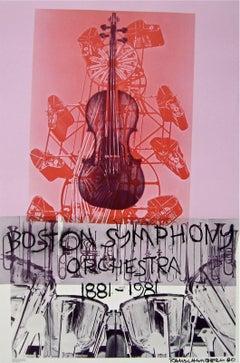Boston Symphony, 1980 Exhibition Lithograph, Robert Rauschenberg