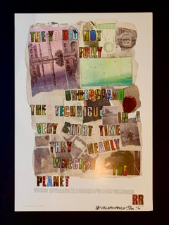 Dream of William Burroughs Signed Poster