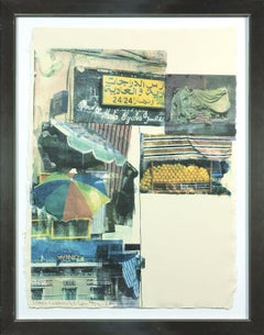 Flaps 12-color screen print by Robert Rauschenberg Edition 36 of 52