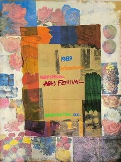 International Very Special Arts Festival 1989 Ltd Ed Litho Robert Rauschenberg