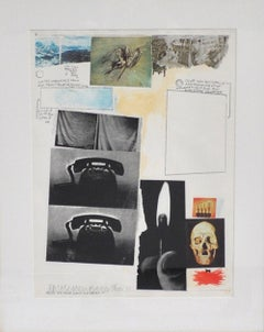 Poster for Peace, Robert Rauschenberg Screen Print, signed and numbered