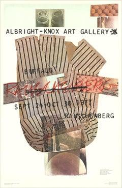 """Robert Rauschenberg-Albright-Knox Art Gallery-45.5"""" x 29.5""""-Poster-1976-Pop Art"""