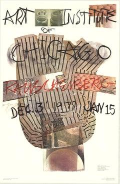 "Robert Rauschenberg-Art Institute of Chicago-45.5"" x 29.5""-Poster-1976-Pop Art"