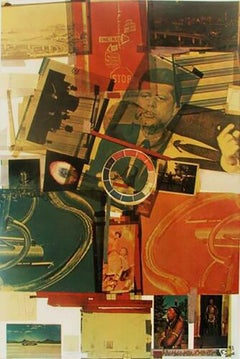 """Robert Rauschenberg """"CORE"""" offset lithograph signed and numbered from ed. 200"""