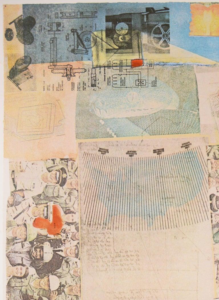 Robert Rauschenberg, Deposit from America, screenprint, collage, signed, 1975 - Pop Art Print by Robert Rauschenberg