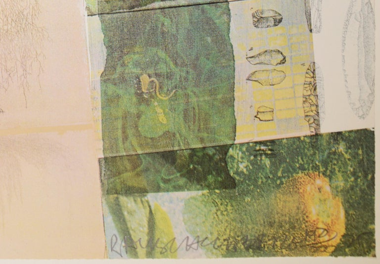Robert Rauschenberg, Deposit from America, screenprint, collage, signed, 1975 For Sale 1