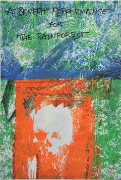 """Robert Rauschenberg """"Grateful Dead Benefit for the Rainforest"""" Signed Lithograph"""